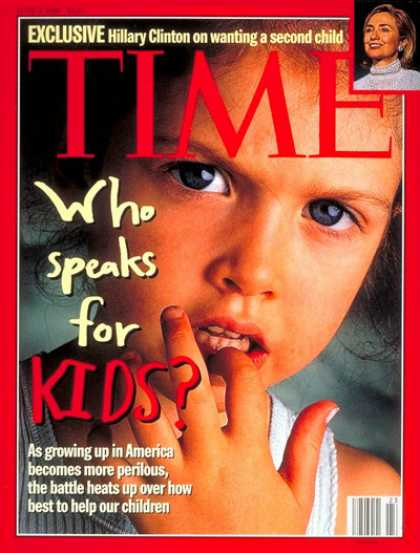 Time - Who Speaks for Kids? - June 3, 1996 - Children - Society