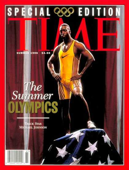 Time - Summer Olympics 1996 - June 28, 1996 - Michael Johnson - Track & Field - Olympic