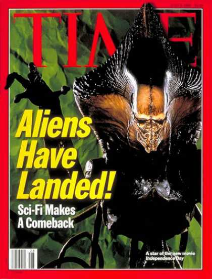 Time - Aliens Have Landed - July 8, 1996 - Movies - Science Fiction