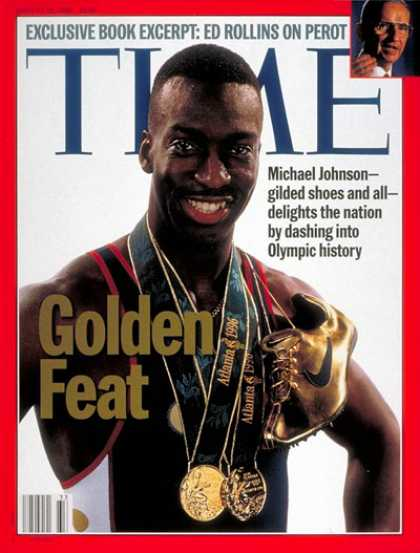 Time - Michael Johnson - Aug. 12, 1996 - Track & Field - Olympics - Sports