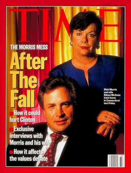 Time - Dick Morris and Wife Eileen McGann - Sep. 9, 1996 - Dick Morris - Scandals