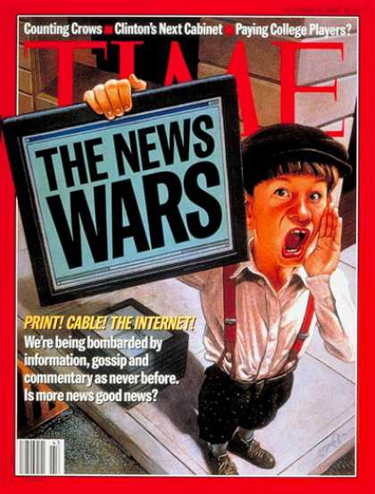Time - News Wars - Oct. 21, 1996 - Television - TV News - Media - Journalism - Broadcas
