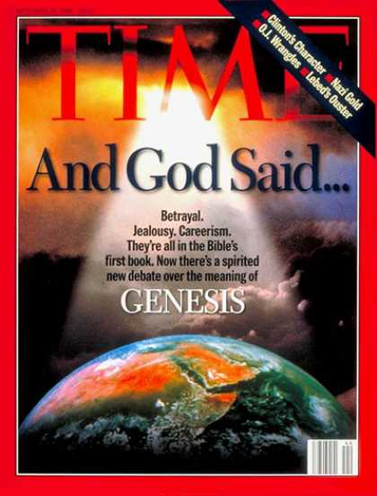 Time - Genesis Rediscovered - Oct. 28, 1996 - Religion - Christianity - Evolution