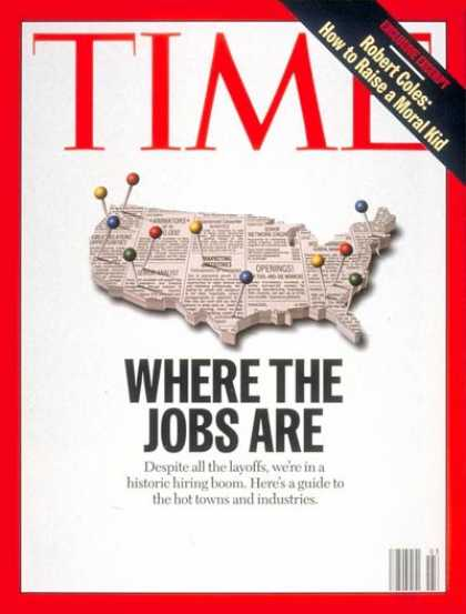 Time - Where the Jobs Are - Jan. 20, 1997 - Labor & Employment - Economy - Jobs