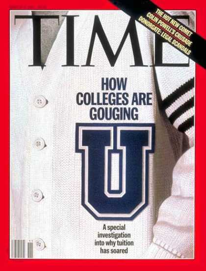 Time - College Tuition - Mar. 17, 1997 - Schools - Tuition - Education - Colleges & Uni