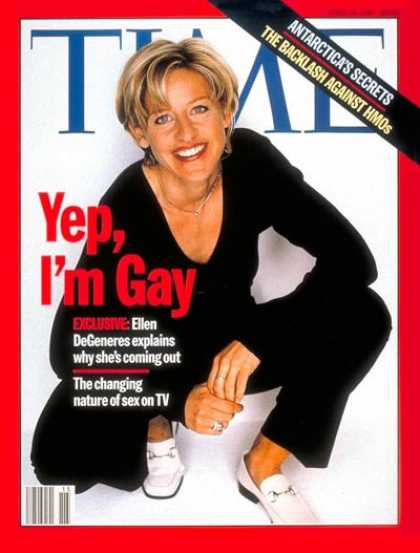 Time - Ellen DeGeneres - Apr. 14, 1997 - Television - Homosexuality - Comedy - Actresse