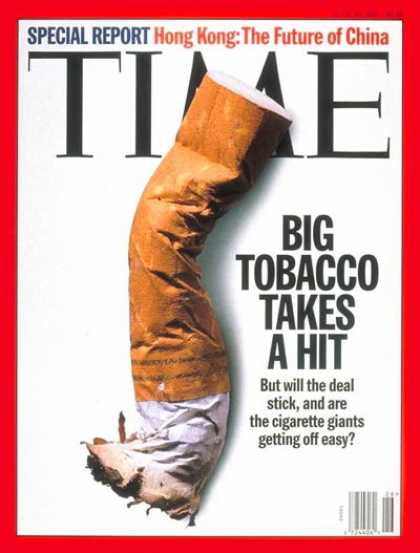 Time - Tobacco Settlement - June 30, 1997 - Smoking - Lawsuits - Tobacco - Health & Med