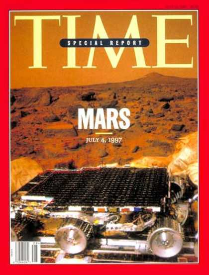 Time - Pathfinder Lands on Mars - July 14, 1997 - NASA - Spacecraft - Space Exploration