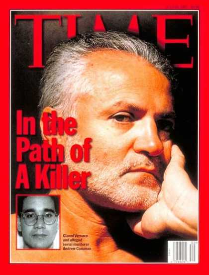 Time - Gianni Versace and Andrew Cunanen - July 28, 1997 - Crime - Murder - Fashion
