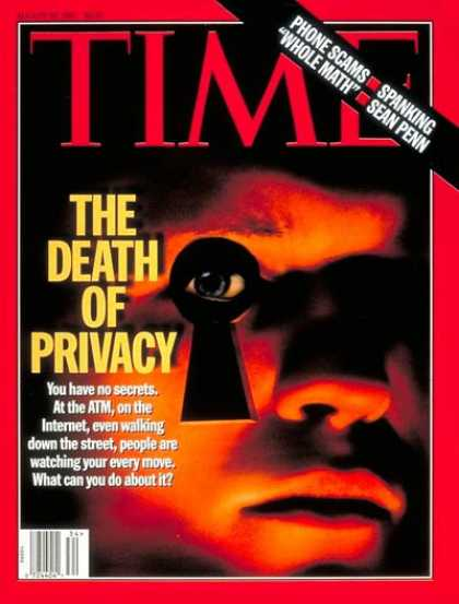 Time - Death of Privacy - Aug. 25, 1997 - Society - Privacy - Business