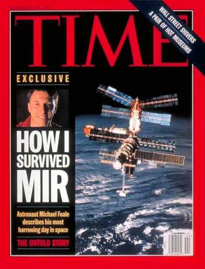 Time - Michael Foale - Nov. 3, 1997 - NASA - Astronauts - Aviation - Space Exploration