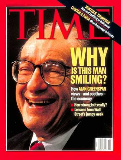 Time - Alan Greenspan - Nov. 10, 1997 - Business - Finance - Politics