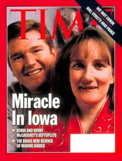 Time - Kenny and Bobbi McCaughey - Dec. 1, 1997 - Parenting - Medical Research - Family