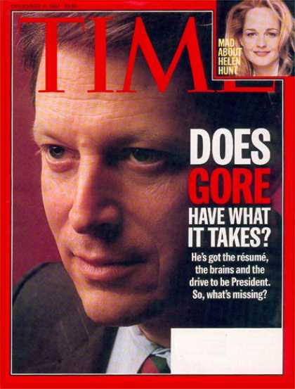 Time - Al Gore - Dec. 15, 1997 - Politics