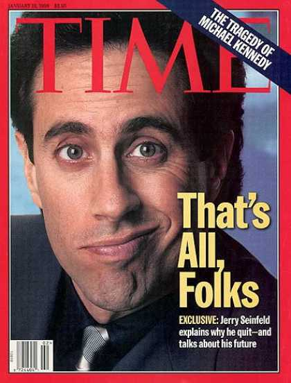 Time - Jerry Seinfeld - Jan. 12, 1998 - Television - Actors - Comedy