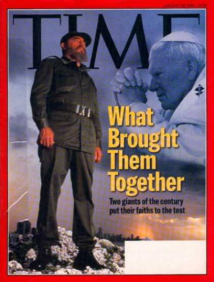 Time - Fidel Castro & Pope John Paul II - Jan. 26, 1998 - Pope John Paul II - Fidel Cas