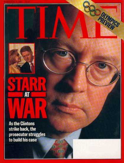 Time - Kenneth Starr - Feb. 9, 1998 - Scandals
