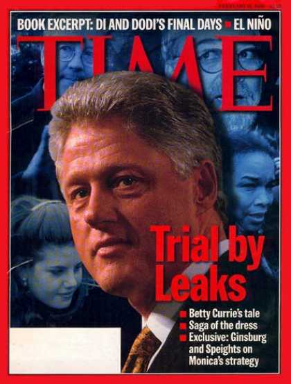 Time - Bill Clinton - Feb. 16, 1998 - U.S. Presidents - Politics