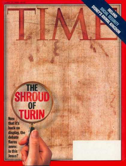 Time - The Shroud of Turin - Apr. 20, 1998 - Jesus - Religion