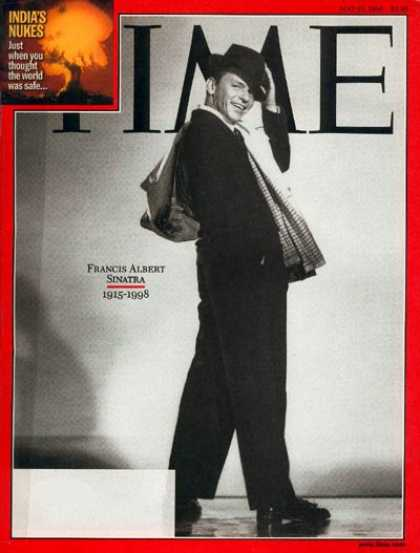 Time - Frank Sinatra - May 25, 1998 - Singers - Actors - Most Popular - Music