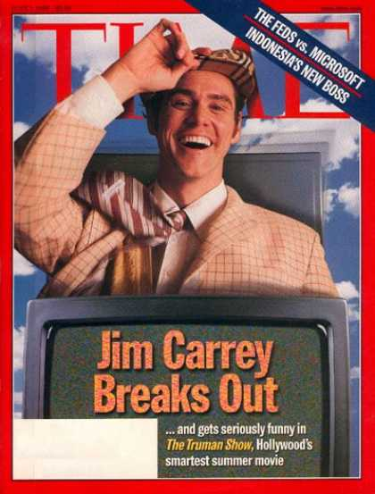 Time - Jim Carrey - June 1, 1998 - Actors - Comedy - Movies