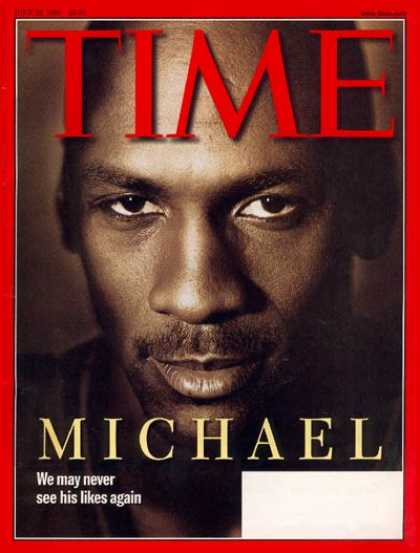 Time - Michael Jordan - June 22, 1998 - Basketball - Chicago - Most Popular - Sports