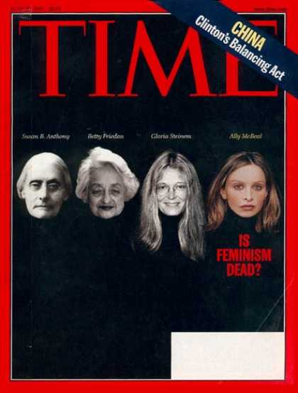Time - Is Feminism Dead? - June 29, 1998 - Women - Education - Society