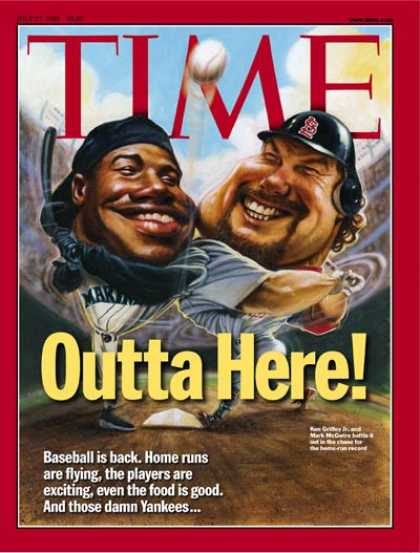 Time - Ken Griffey, Jr. and Mark McGwire - July 27, 1998 - Baseball - Most Popular - Sp