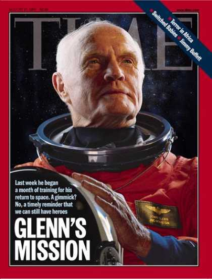 Time - John Glenn - Aug. 17, 1998 - NASA - Astronauts - Aviation - Space Exploration