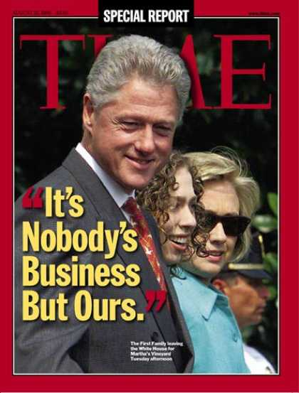 Time - The Clintons - Aug. 31, 1998 - Bill Clinton - Hillary Clinton - U.S. Presidents