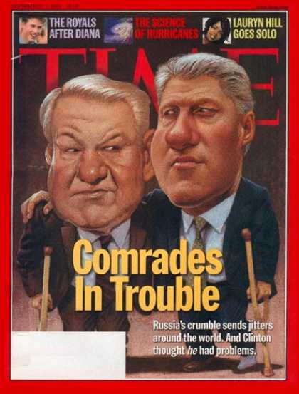 Time - Boris Yeltsin & Bill Clinton - Sep. 7, 1998 - Boris Yeltsin - Bill Clinton - U.S