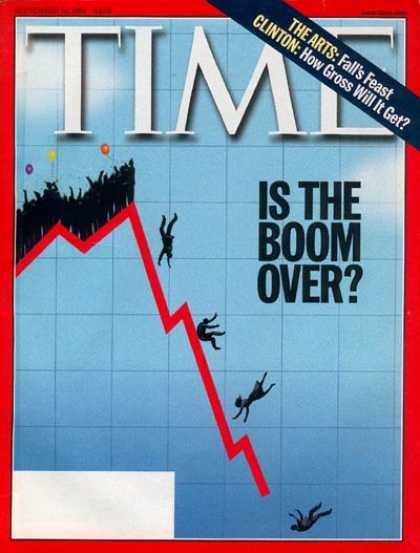 Time - Is the Boom Over? - Sep. 14, 1998 - Economy - Finance - Business