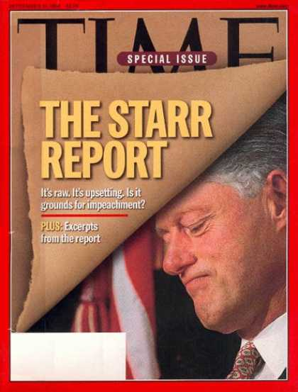 Time - The Starr Report - Sep. 21, 1998 - Scandals