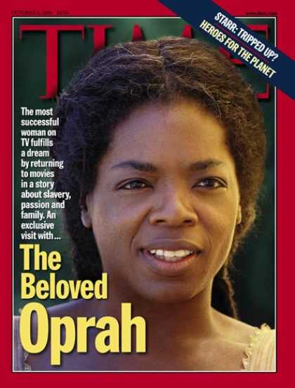 Time - Oprah Winfrey - Oct. 5, 1998 - Television - Talk Shows - Actresses - Broadcastin