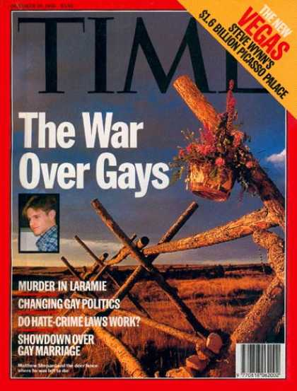 Time - The War Over Gays - Oct. 26, 1998 - Homosexuality - Social Issues - Education