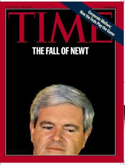 Time - Newt Gingrich - Nov. 16, 1998 - Politics