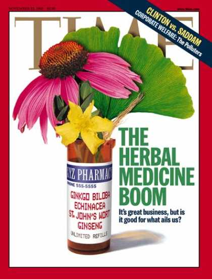 Time - Herbal Medicine - Nov. 23, 1998 - Medications - Health & Medicine - Alternative