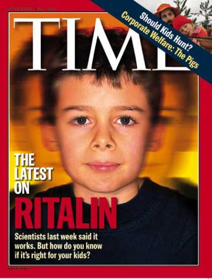 Time - Ritalin - Nov. 30, 1998 - Children - Education - Medications - Health & Medicine