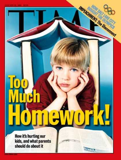 Time - Too Much Homework - Jan. 25, 1999 - Children - Education - Schools
