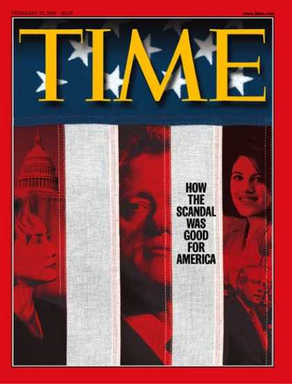 Time - The Clinton/Lewinsky Scandal - Feb. 22, 1999 - Bill Clinton - Hillary Clinton -