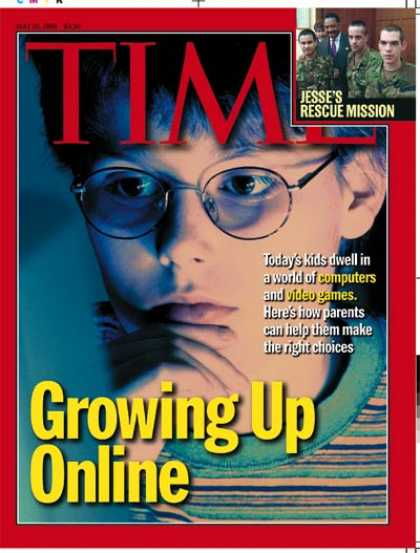 Time - Growing Up Online - May 10, 1999 - Computers - Internet - Children - Science & T