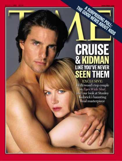 Time - Tom Cruise & Nicole Kidman - July 5, 1999 - Tom Cruise - Actors - Movies