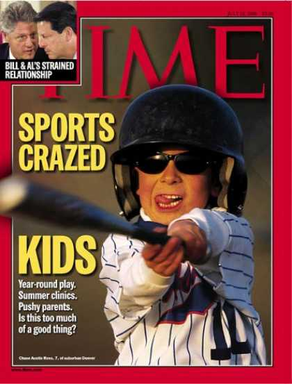 Time - Sports-Crazed Kids - July 12, 1999 - Children - Parenting - Sports