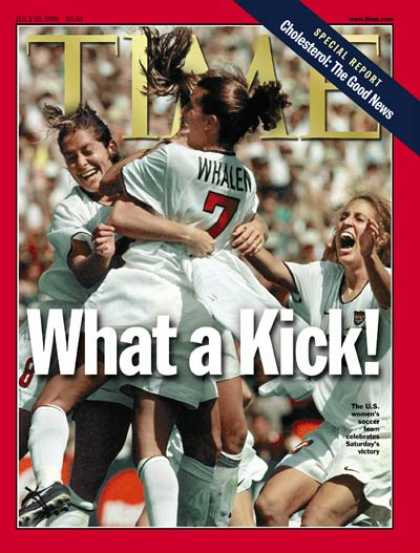 Time - Women's Soccer - July 19, 1999 - Soccer - Most Popular - Sports