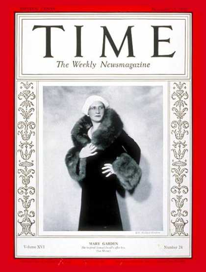 Time - Mary Garden - Dec. 15, 1930 - Opera - Music