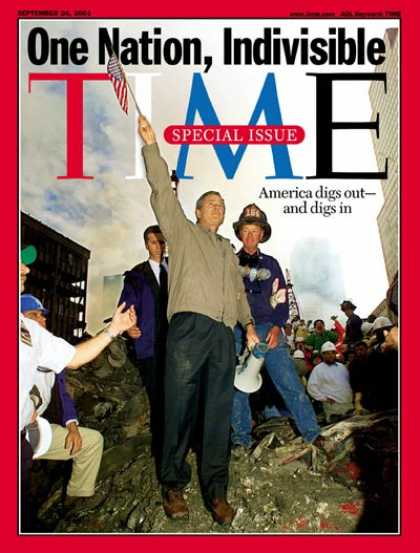 Time - George W. Bush - Sep. 24, 2001 - U.S. Presidents - Sept. 11 - Terrorism - Politi
