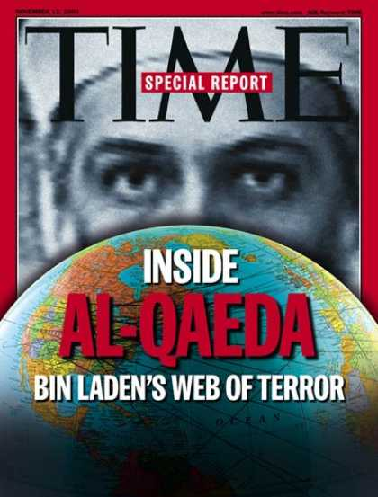 Time - Osama bin Laden - Nov. 12, 2001 - Sept. 11 - Al-Qaeda - Terrorism