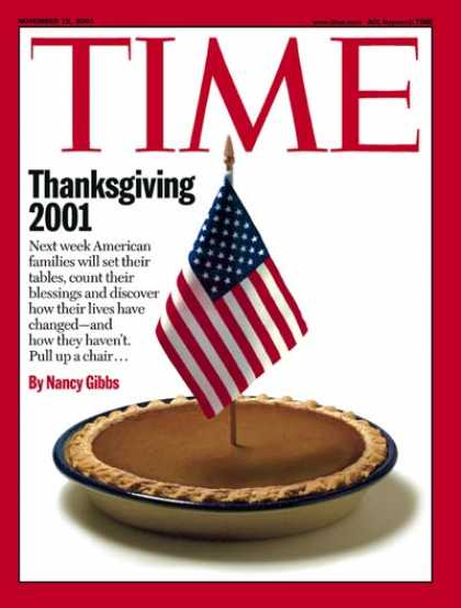 Time - Thanksgiving 2001 - Nov. 19, 2001 - Holidays - Sept. 11 - Terrorism - American F