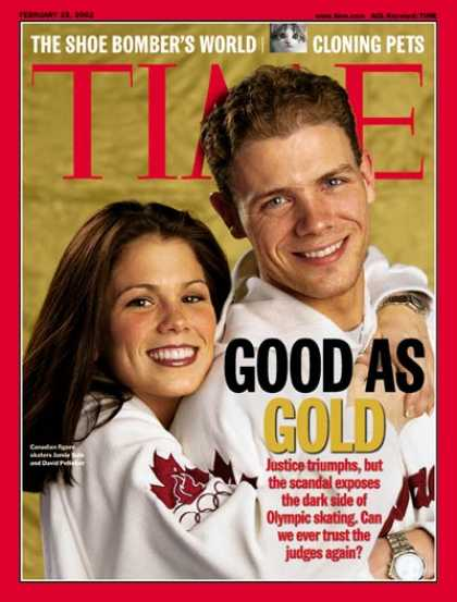Time - Jamie Sale & David Pelletier - Feb. 25, 2002 - Skating - Olympics - Scandals - S