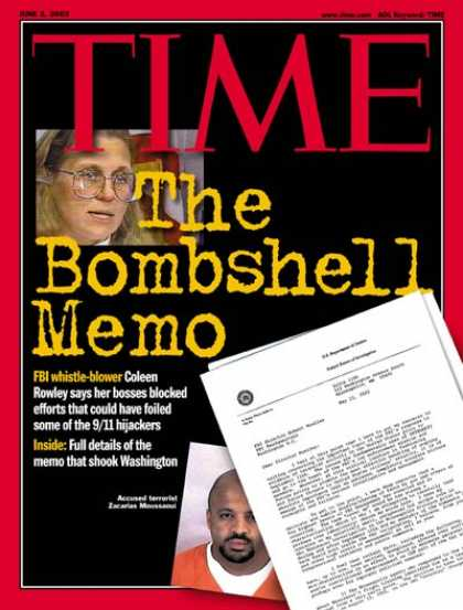 Time - The Bombshell Memo - June 3, 2002 - Sept. 11 - FBI - Terrorism